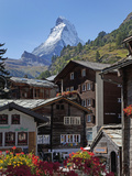 Matterhorn, Zermatt, Canton Valais, Swiss Alps, Switzerland, Europe Impressão em tela esticada por Angelo Cavalli