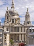 St. Paul's Cathedral Designed by Sir Christopher Wren, London, England, United Kingdom, Europe Impressão fotográfica por Walter Rawlings