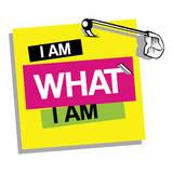 I Am What I Am Autocollant mural