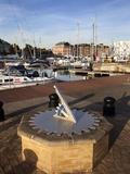 Sundial at Ipswich Haven Marina, Ipswich, Suffolk, England, United Kingdom, Europe Photographic Print by Mark Sunderland