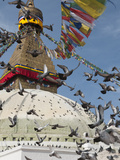 Boudhnath Stupa, One of the Holiest Buddhist Sites in Kathmandu, Nepal, Asia Photographic Print by Eitan Simanor