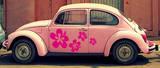 Fleurs Flower Power Autocollant mural