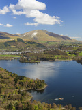 Keswick and Skiddaw Viewed from Catbells, Derwent Water, Lake District Nat'l Park, Cumbria, England Photographic Print by Chris Hepburn
