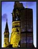 Kaiser Wilhelm Memorial Church, Berlin, Germany Inramat kanvastryck av Walter Bibikow