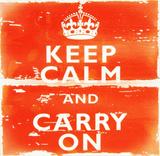 Keep Calm Carry On Holzschild