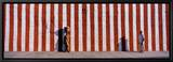 Two People Standing Outside a Temple, Tamil Nadu, India Leinwandtransfer mit Rahmung von  Panoramic Images