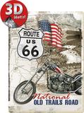 Route 66 Old Trails Road Plaque en métal