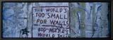 Graffiti on a Wall, Berlin Wall, Berlin, Germany Leinwandtransfer mit Rahmung von  Panoramic Images