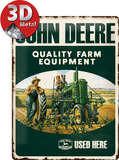 John Deere Quality Farm Equipment Carteles metálicos