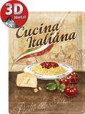 Cucina Italiana Plaque en métal