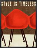 Style is Timeless Midcentury Chairs Framed Canvas Print by Lisa Weedn