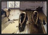 Udjævning af parketgulv, 1875 Indrammet lærredstryk af Gustave Caillebotte