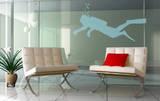 Le Plongeur (sticker murale) Adesivo per finestre