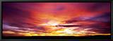 Sunset, Canyon De Chelly, Arizona, USA Indrammet lærredstryk af Panoramic Images,