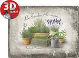 Jardin Francais Tin Sign