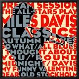 Traum-Session: Stars spielen Klassiker von Miles Davis, Englisch Leinwandtransfer mit Rahmung