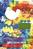 Woodstock Tye Dye Plakat