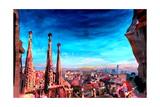 Barcelona City View and Sagrada Familia Affiches par Markus Bleichner