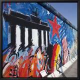 Eastside Gallery (Berlin Wall), Muhlenstrasse, Berlin, Germany Framed Canvas Print by Jon Arnold