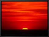 Sunset Over the Gulf of Mexico, Florida, USA Leinwandtransfer mit Rahmung von Charles Sleicher