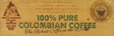 100% Columbian Coffee Cartel de madera