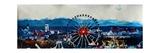 Munich Oktoberfest Panorama with Alps and Giant Wheel Affiche par Markus Bleichner