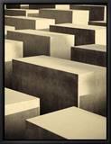 Mémorial de l'Holocauste, quartier de Mitte, Berlin, Allemagne - Denkmal Fur Die Ermordeten Juden Europas Reproduction sur toile encadrée par Michele Falzone