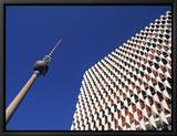 Fernsehturm, Alexanderplatz, Berlin, Germany Framed Canvas Print by Jon Arnold