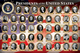 Presidents of the United States (2016 Edition) Educational Poster Print Pôsters