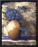 Provence Urn II Innrammet lerretstrykk av Louise Montillio