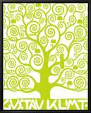 Green Tree of Life Indrammet lærredstryk af Gustav Klimt