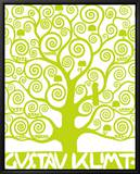 Green Tree of Life Framed Canvas Print by Gustav Klimt