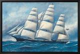 Glory of the Seas Framed Canvas Print by Antonio Jacobsen