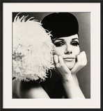 Nicole de la Marge in a Peter Shepherd Velvet Cap, 1965 Framed Giclee Print by John French