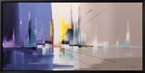 Langs De Vaart Reproduction sur toile encadrée par Luc Drappier