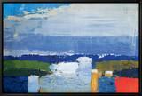 Landskap vid middagstid Noon Landscape Inramat kanvastryck av Nicolas De Staël