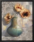 Mediterranean Poppies I Stampa su tela con cornice di Louise Montillio