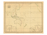 1831, Indonesia, Malaysia, Philippines, Oceania Impressão giclée