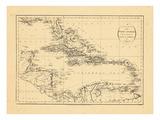 1794, West Indies, Caribbean Giclée-vedos