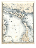 1879, Ontario - Counties - Bruce, Algoma District and Manitoulin Island, Canada Giclée-Druck