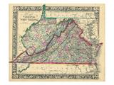 1864, United States, Virginia, West Virginia, North America, Virginia, West Virginia Giclee-trykk