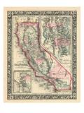 1864, United States, California, Utah, North America, California, Great Salt Lake Country Giclee-trykk