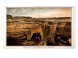 1882, Grand Canyon - Sheet VI - The Grand Canon at the foot of the Toroweap-Looking East, Arizona Giclee-trykk