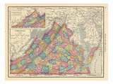 1913, United States, Virginia, North America, Virginia Giclee-trykk