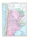 1913, Argentina, Bolivia, Chile, Paraguay, Uruguay, South America, Chile, Argentina, Paraguay Giclee Print