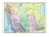 1906, Canada, Alaska, Alberta, British Columbia, Saskatchewan, North America, British Columbia Giclee-trykk