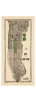 1949, Manhattan composite, 1949, New York, United States Giclee-trykk