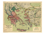 1898  Greece  Albania  Turkey  Macedonia  Bulgaria  Europe  Graecia