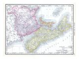 1913, Canada, New Brunswick, Nova Scotia, Prince Edward Island, North America, Maritime Provinces Giclée-Druck