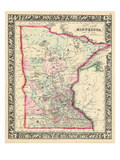1864, United States, Minnesota, North America, Minnesota Giclee-trykk